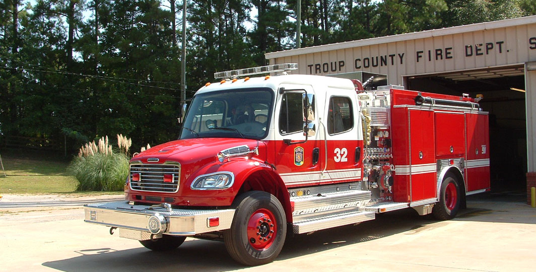 county fire truck at troup county fire station